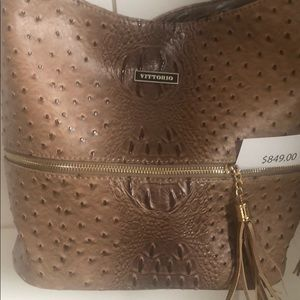 Designer Ostrich Hipster Bag